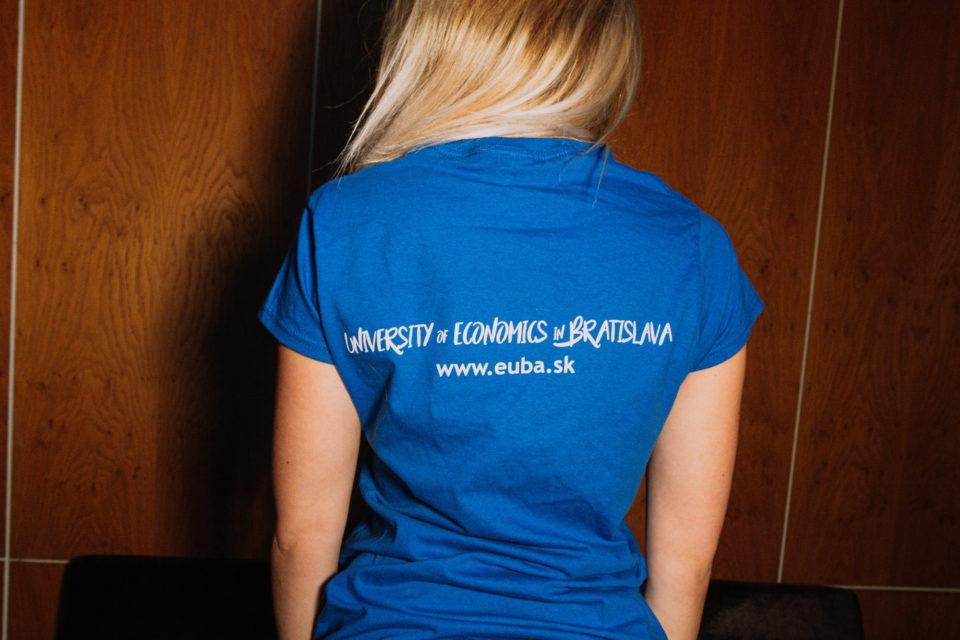 tričko dámske modré EUBA