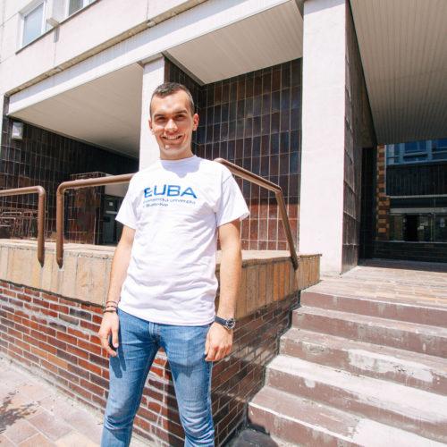 tričko pánske biele EUBA 2020