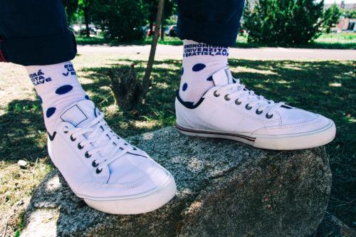 ponožky vysoké biele EUBA