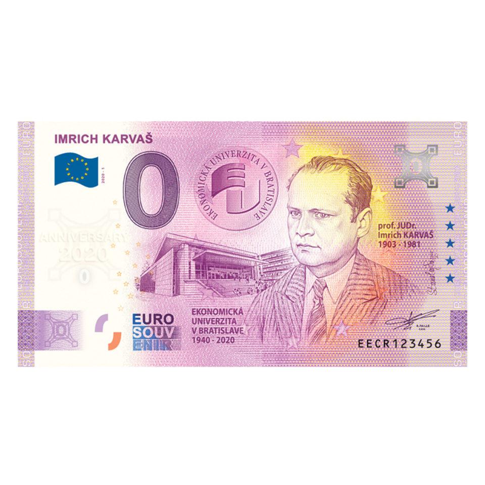 Nulová bankovka - Imrich Karvaš Anniversary 2020